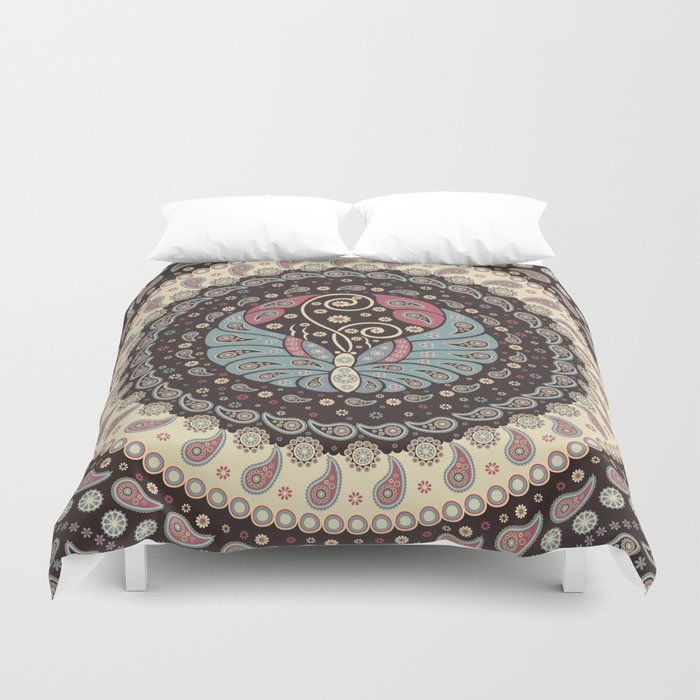 Butterfly Mandala Duvet Cover