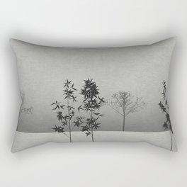Bamboo Trees Landscape Rectangular Pillow