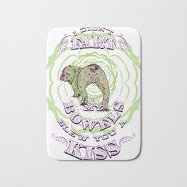 Bulldog Fart - Bowels Blew A Kiss -Funny Meme Clever Bath Mat