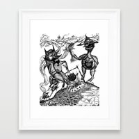 wild things Framed Art Prints featuring Wild Things by intermittentdreamscapes