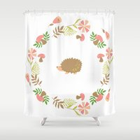 hedgehog Shower Curtains featuring Hedgehog! by vectorgraphicscorner