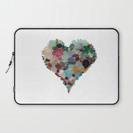 Love - Original Sea Glass Heart Laptop Sleeve