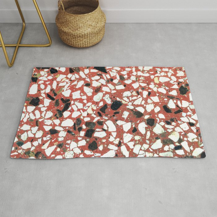 Original Terrazzo Of 80 S Red Rug By Popcut