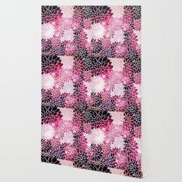 Space Dahlias Magenta Wallpaper