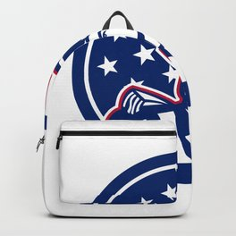 American Patriot USA Flag Icon Backpack