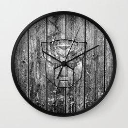 Autobot Monochrome Wood Texture Wall Clock