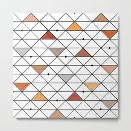 Colored geometric mech pattern Metal Print