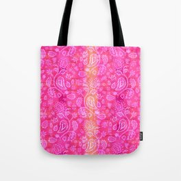 Floral pattern inspired by Hindu and Moroccan textiles Tote Bag