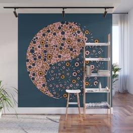 Yin and Yang Florals Wall Mural