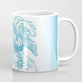 Koi, Poppy, and Squash Blossom Coffee Mug