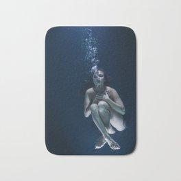 Woman Underwater Bath Mat