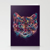 space cat Stationery Cards featuring Space Cat by dan elijah g. fajardo