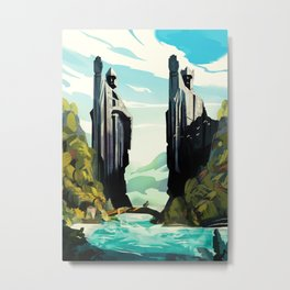 The Gates of Argonath Metal Print