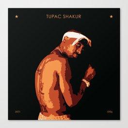 Tu Pac Shakur Tribute Canvas Print