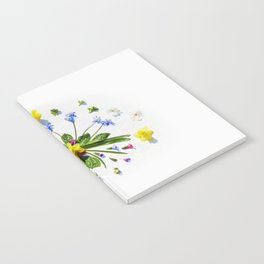 Spring flowers and branches II Notebook