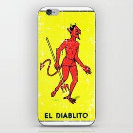 El Diablito Mexican Loteria Card iPhone Skin
