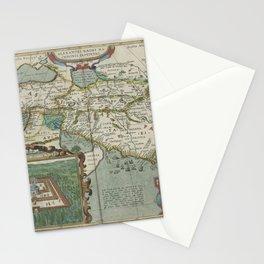 Vintage Map - Ortelius: Theatrum Orbis Terrarum (1606) - Journeys of Alexander the Great Stationery Cards