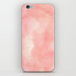 Coral pink watercolor abstract brushstrokes pattern iPhone Skin