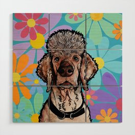 Parti Poodle Wood Wall Art