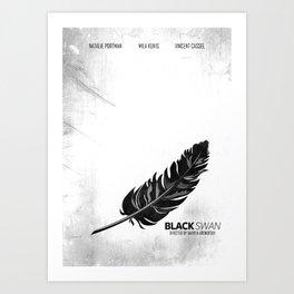 Black Swan - Minimal Art Print