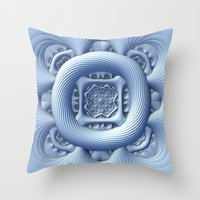 frozen Throw Pillows featuring Frozen by Lyle Hatch