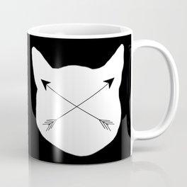 Inverted Cat Arrows Coffee Mug