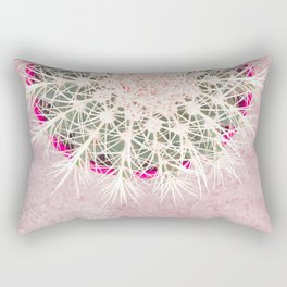 Cactus mandala - blush concrete Rectangular Pillow