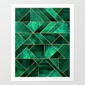 Abstract Nature - Emerald Green by elisabethfredriksson