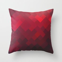 Red Impulse Throw Pillow