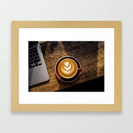That Perfect Cup of Cappuccino Coffee Framed Art Print