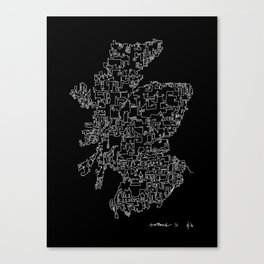 Scotland in one continuous line Canvas Print
