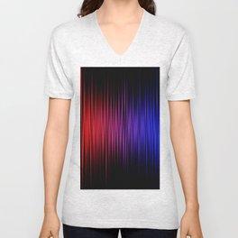 Colorful lines on black background Unisex V-Neck