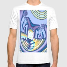 Cyclop's Grin Mens Fitted Tee MEDIUM White