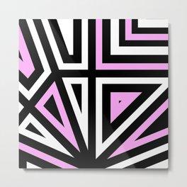 Around Every Corner Pink Metal Print