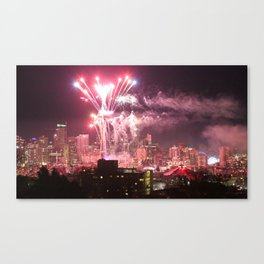 Happy New Years Seattle Canvas Print