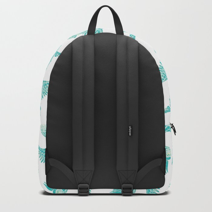 Owls in Flight – Turquoise Palette Backpack
