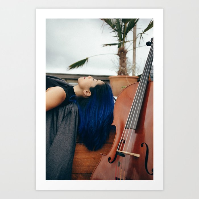 Cello Music for Meditation Art Print