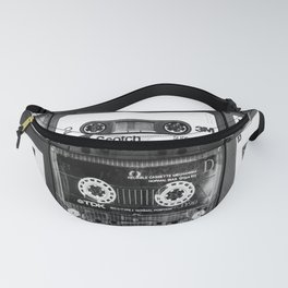 Something Nostalgic - black and white #decor #society6 #buyart Fanny Pack