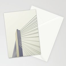 cable-stayed bridge Stationery Cards