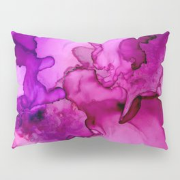 Mauve it or lose it- Pink and Purple Abstract Painting Pillow Sham