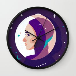 Space Girl Wall Clock