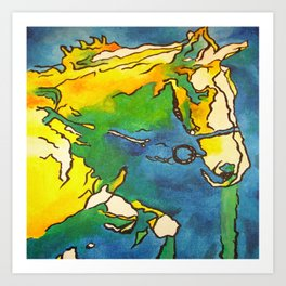 Horse and Bridle Art Print
