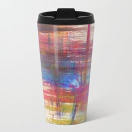 Textural Mountains Metal Travel Mug