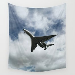 Silhuette of an aircraft Wall Tapestry