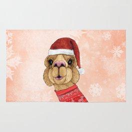 Alpaca Christmas Rug