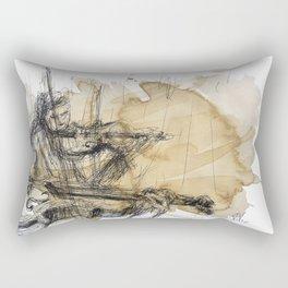 Violins in coffee Rectangular Pillow