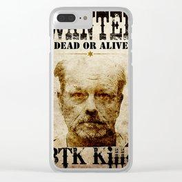 Btk Killer Clear iPhone Case
