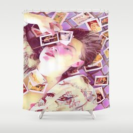 Leonardo Dicaprio x pink Shower Curtain