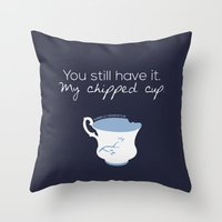 ouat Throw Pillows featuring Rumbelle Quote (OUAT) by CLM Design