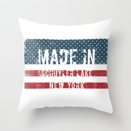 Made in Schuyler Lake, New York Throw Pillow